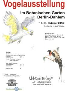 Vogelschau 2013 des Club Ornis Berlin e.V.